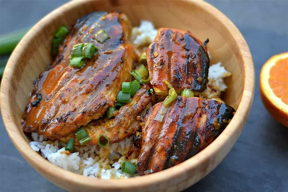 Grilled Asian Orange Chicken - Wholesomelicious