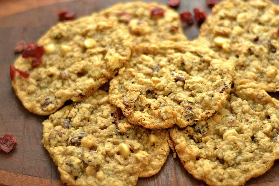 Gluten Free Oatmeal Cranberry and White Chocolate Chip Cookies ...