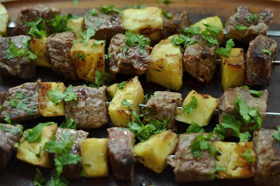 Grilled Thai Beef and Pineapple Kabobs - Wholesomelicious