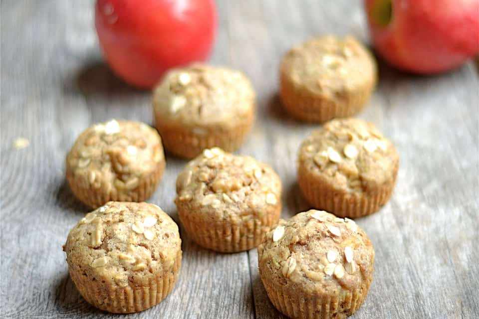 Spiced Apple Zucchini Muffins - Wholesomelicious