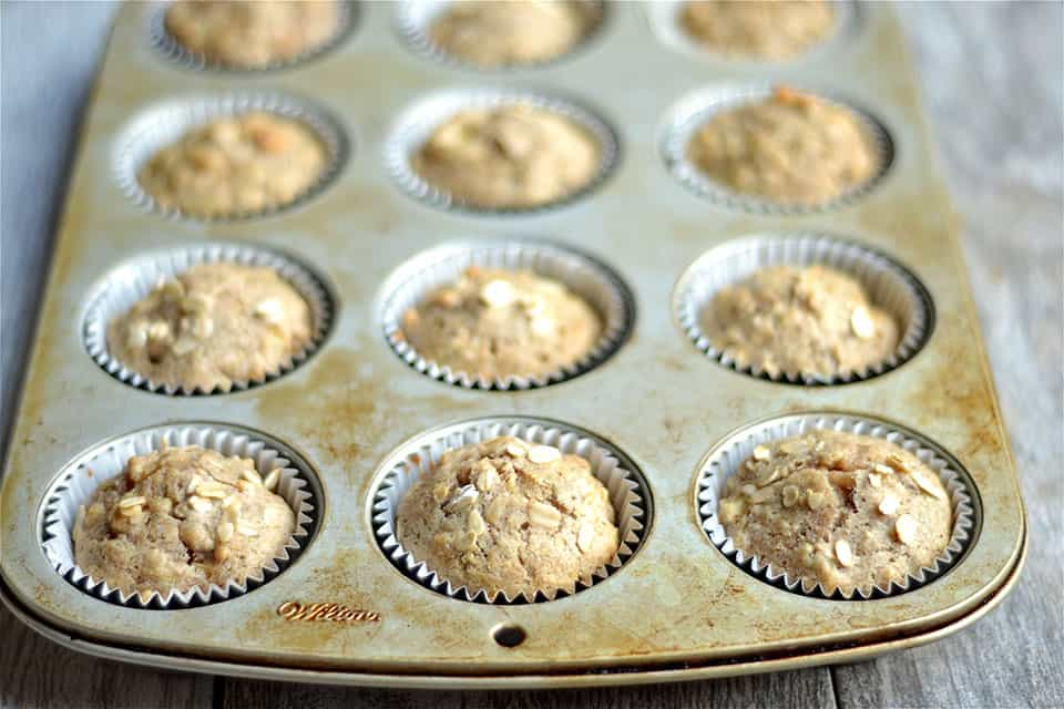 Spiced Apple and Zucchini Muffins2