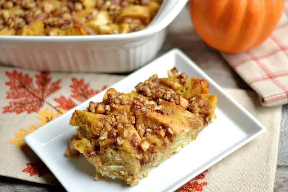 Overnight Pumpkin and Apple Streusel French Toast