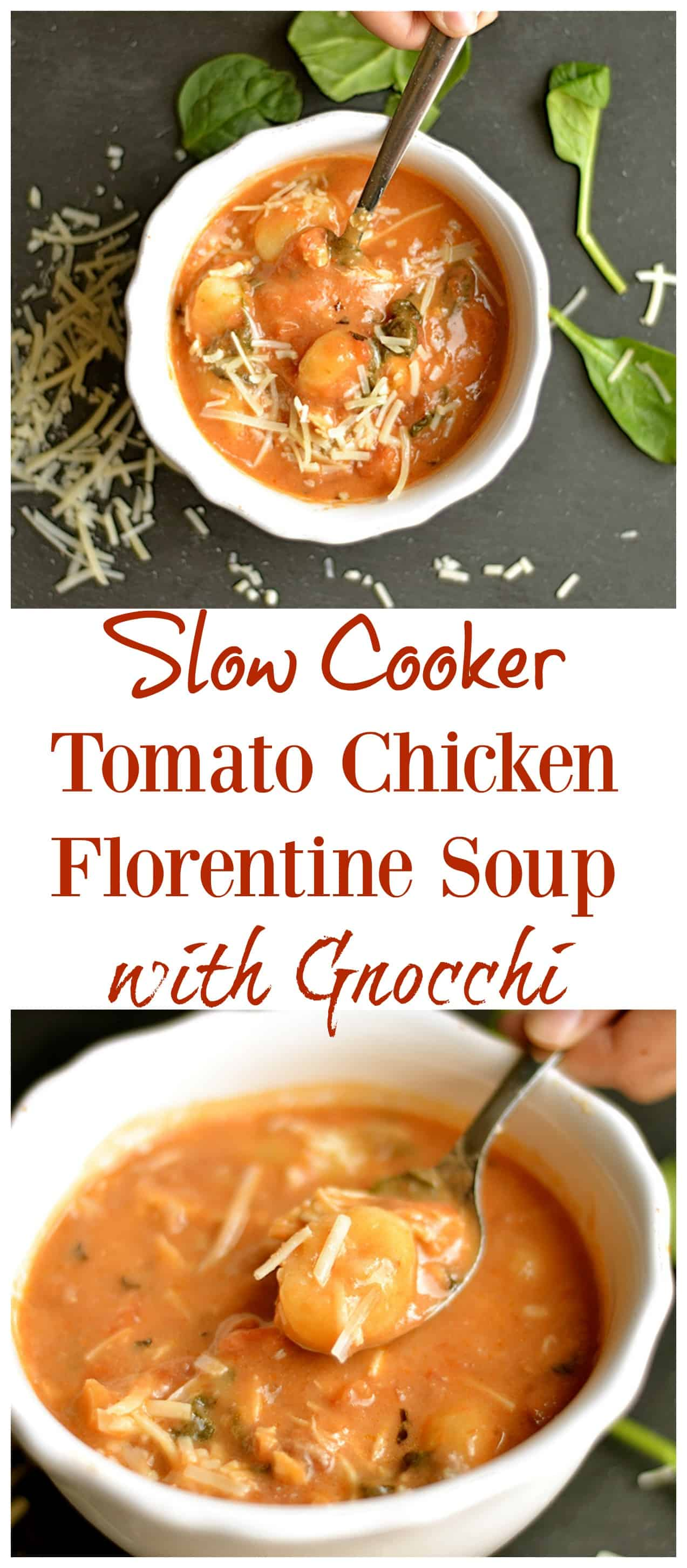 Slow Cooker Tomato Chicken Florentine Soup with Gnocchi ...