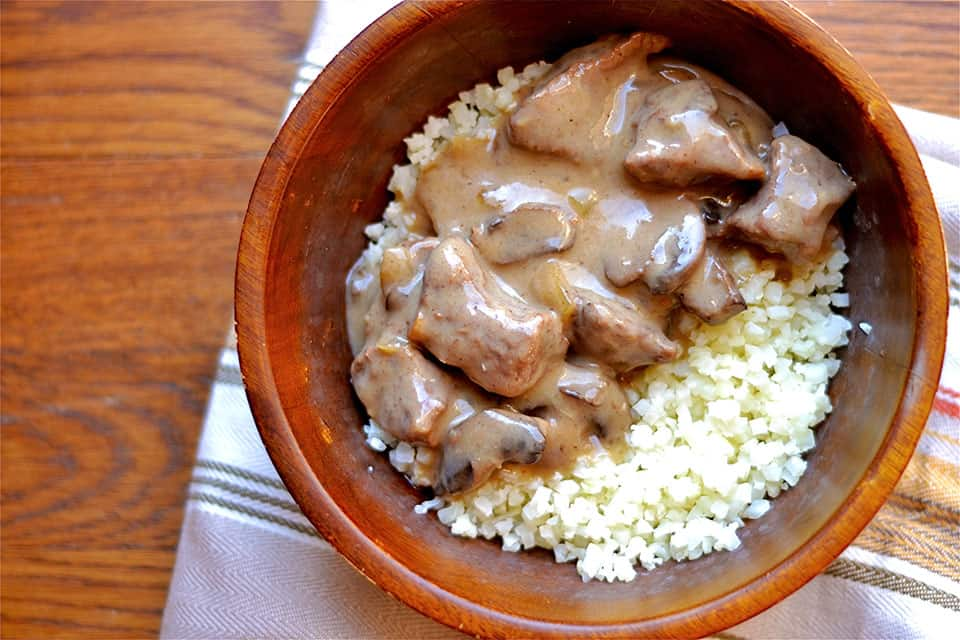 Tender beef slow cooked in a creamy mushroom sauce, and served over a ...