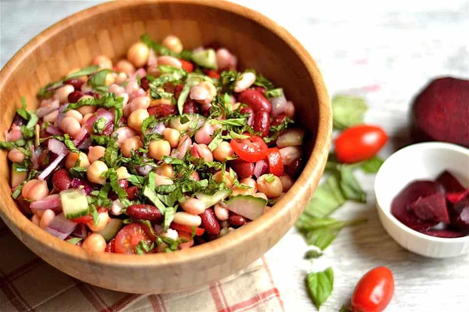 Three Bean Artichoke and Beet Salad 4