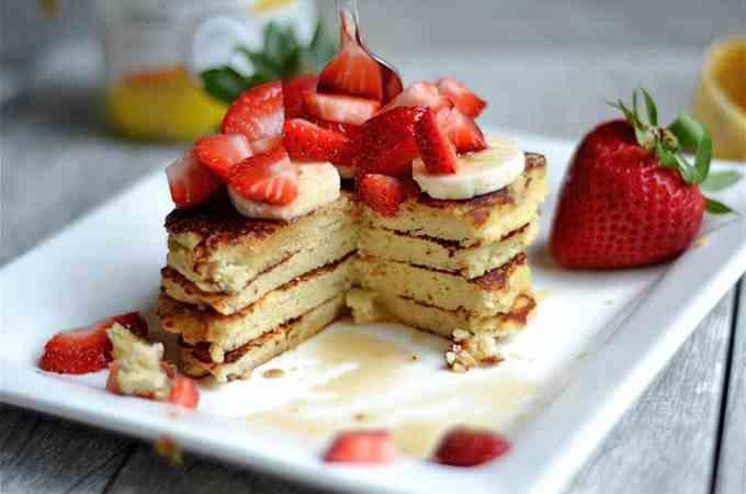 Strawberry Banana Protein Pancakes 2