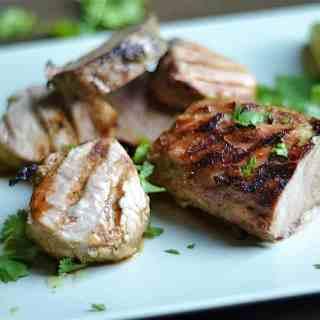 Cilantro Lime Grilled Pork Tenderloin