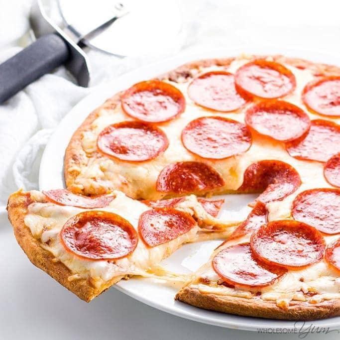 Fathead Pizza Crust Recipe (Low Carb Keto Pizza VIDEO) Wholesome Yum