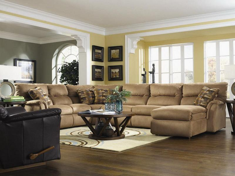 living room with sectional and chairs layout - Living Room - living room with sectional