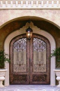 Wrought Iron Doors Design for Exterior Door | WHomeStudio ...