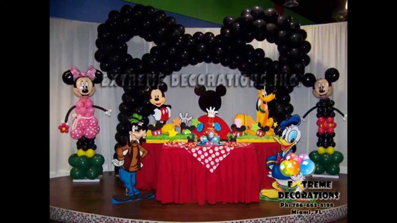 Mickey Mouse Birthday Decoration Ideas Elitflat