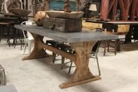 zinc top dining table diy - Zinc Top Dining Table Custom ...