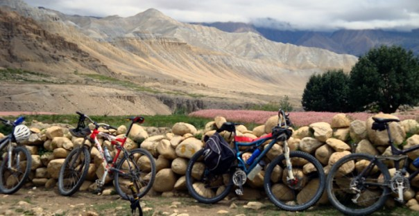 biking in upper mustang