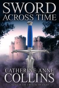 Sword Across Time silver font purple mist