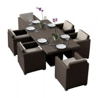 Hospitality Rattan Sydney 7 Piece Wicker Dining Set ...