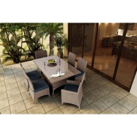 Forever Patio 7 Piece Hampton Wicker Dining Set - Wicker.com