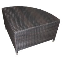 Source Outdoor Circa Wicker 1/4 Round Coffee Table ...