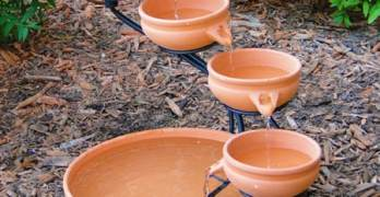 Gift Idea: Decorate Your Garden with a Terracotta Cascade Solar Fountain – Giveaway