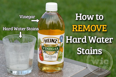 how to get out hard water stains