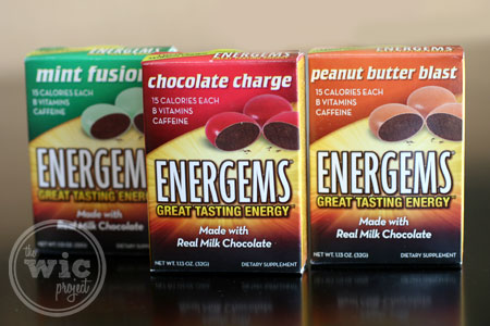 Energems Flavors - Chocolate Charge, Mint Fusion, Peanut Butter