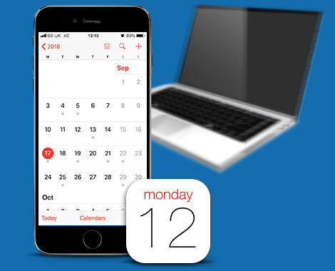 Transfer iPhone Calendars to your computer Win or Mac TouchCopy
