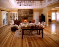 Heart Pine Flooring in a Maine Living Room