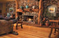 Heart Pine Flooring in a Colorado Living Room