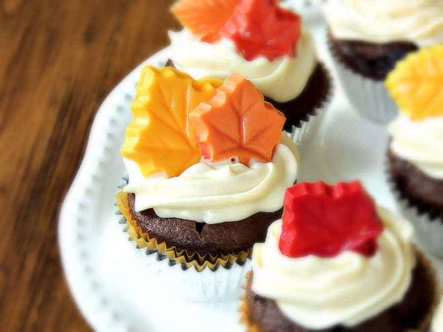 Fall Leaf Cupcakes