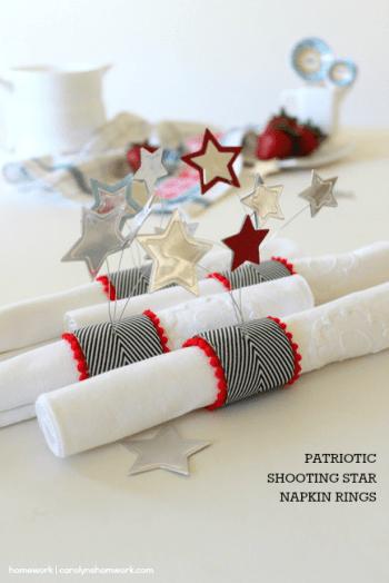 Patriotic Napkin Rings with Stars