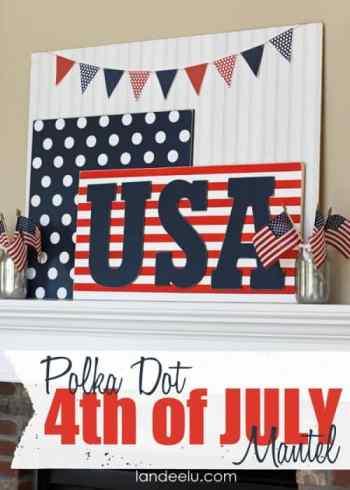 Polka-Dot-4th-of-July-Mantel-Idea-from-Landeelu