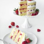 White Chocolate & Summer Berry Cake Slice 1