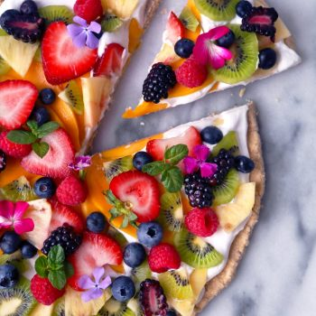 fruit pizza slice flowers