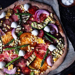 Grilled Veggie Pizza preake