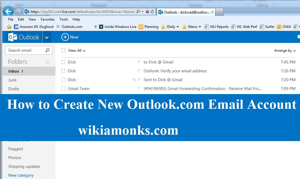 How to Create New Outlook Email Account Wikiamonks - create outlook account