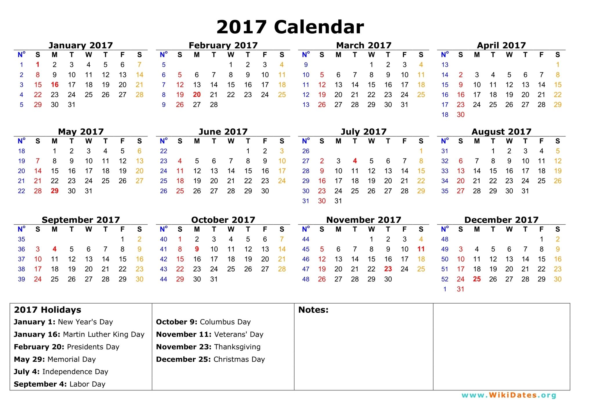 90 day calendar template