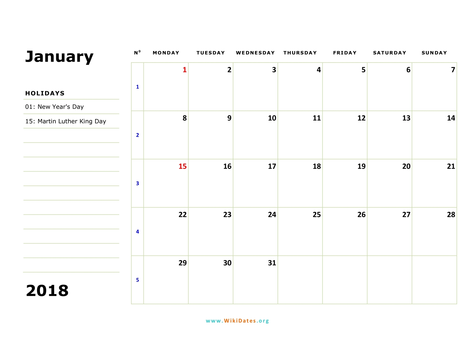 blank 2019 calendar by month to print