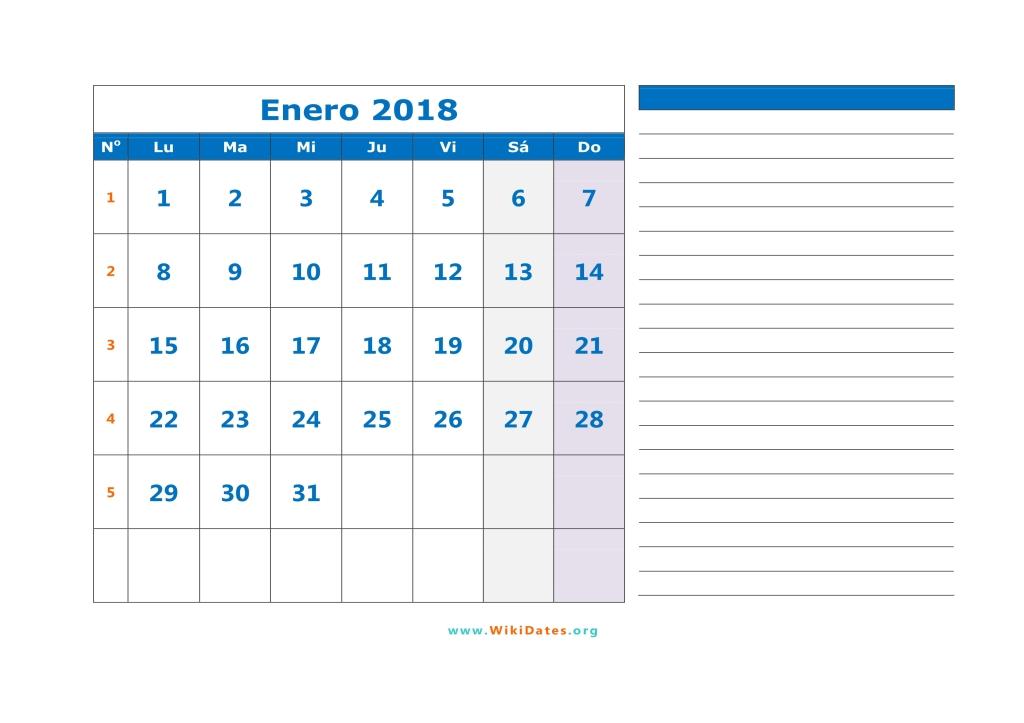 Calendario 2018 - Calendario de España del 2018 WikiDatesorg