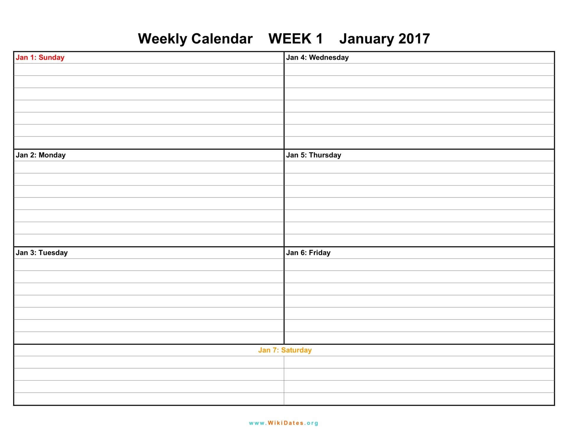 Calendar Agenda Template Word – Word Template Weekly Calendar