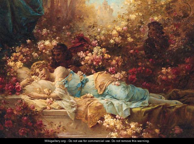 Girl Art Print Wallpaper Sleeping Beauty Hans Zatzka Wikigallery Org The