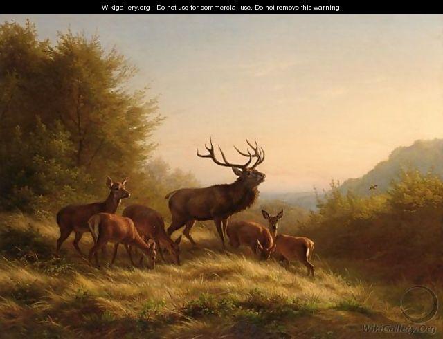 Landscape Wallpapers Hd Free Download Deer In A Landscape Johannes Christian Deiker