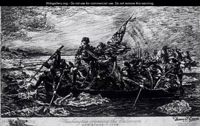 Washington Crossing the Delaware Christmas - Emanuel Gottlieb Leutze