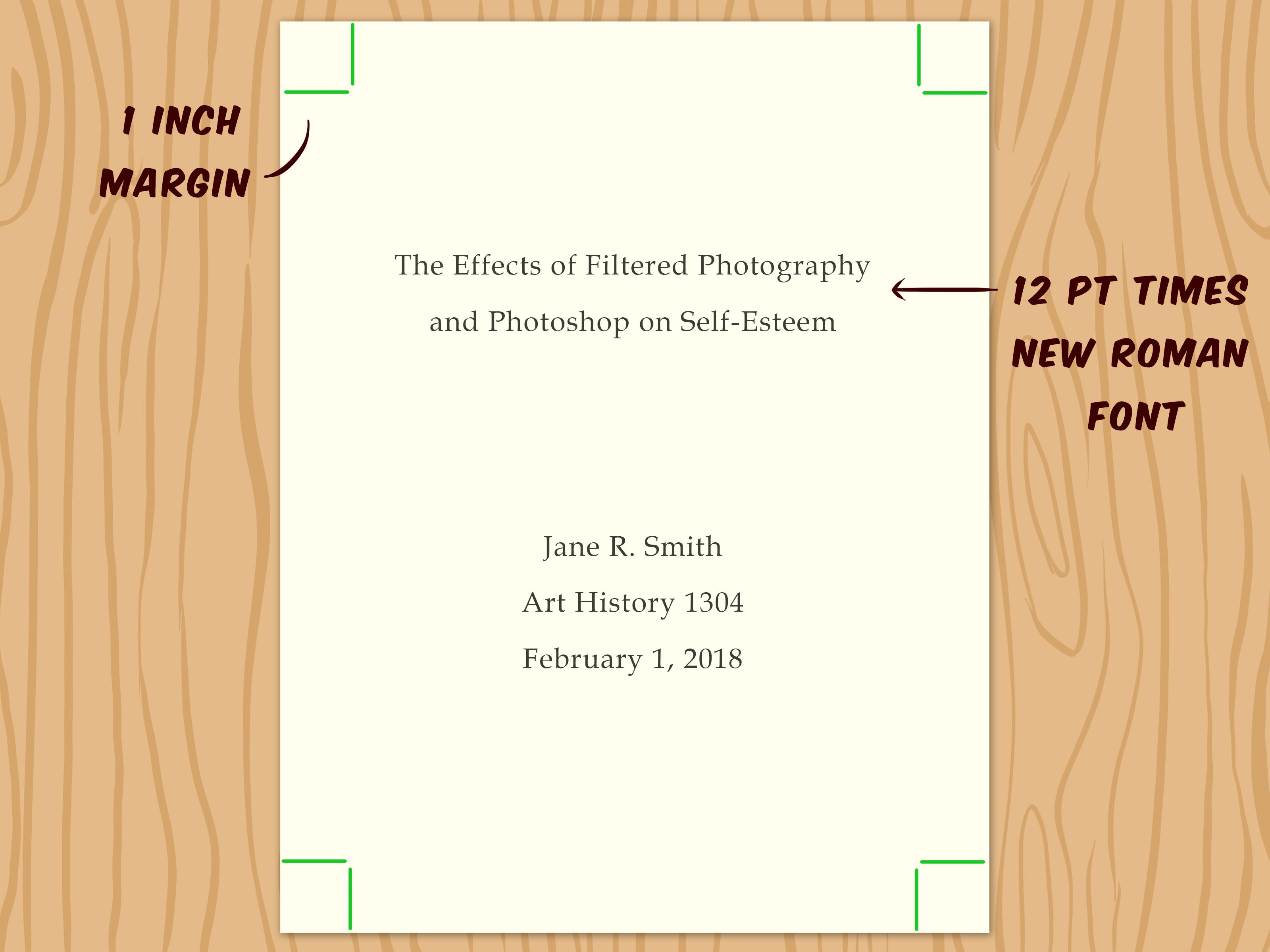 title page apa word