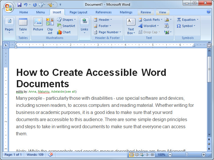How to Create Accessible Word Documents 8 Steps (with Pictures)