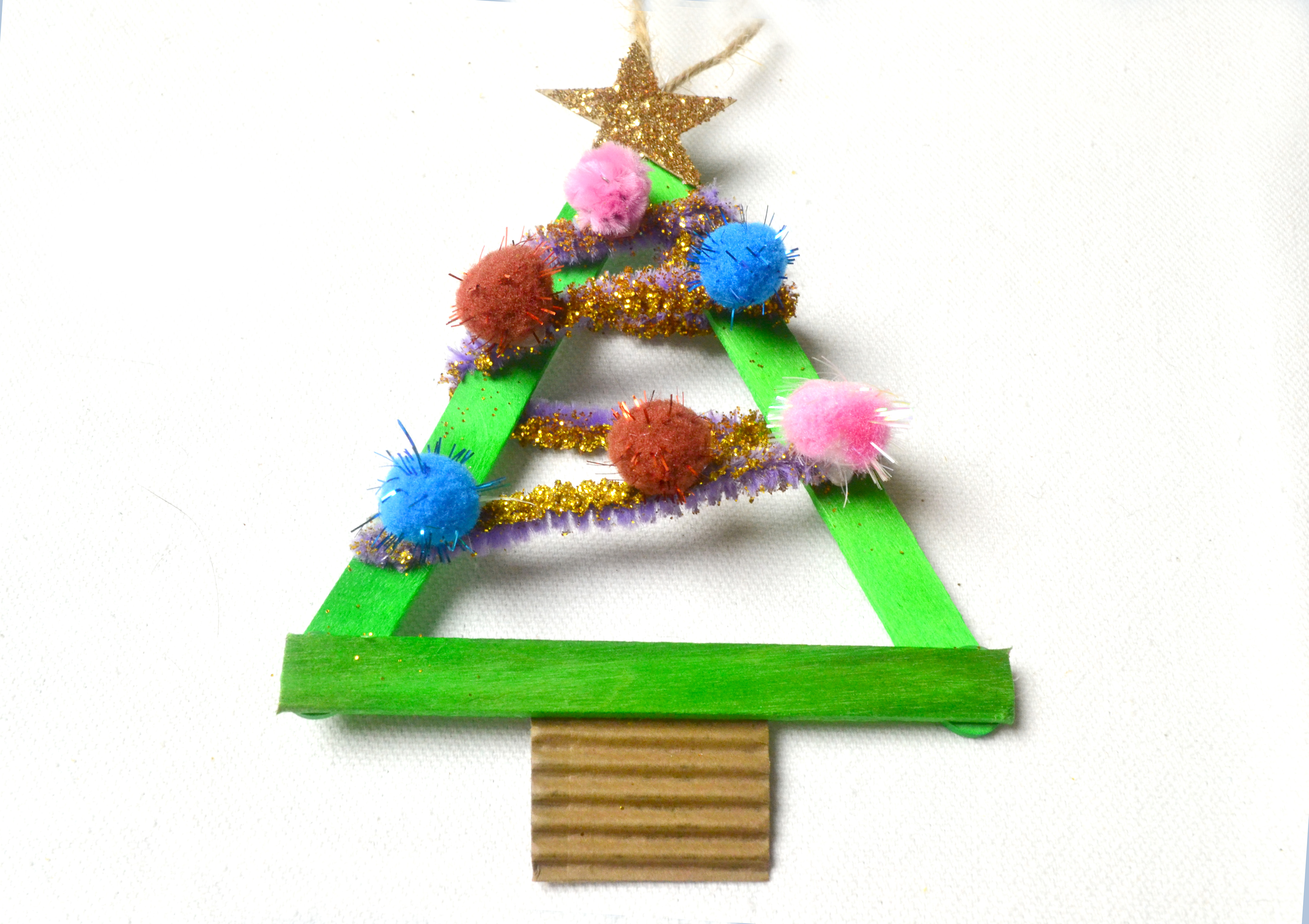 3 Ways To Make Popsicle Stick Christmas Trees Wikihow