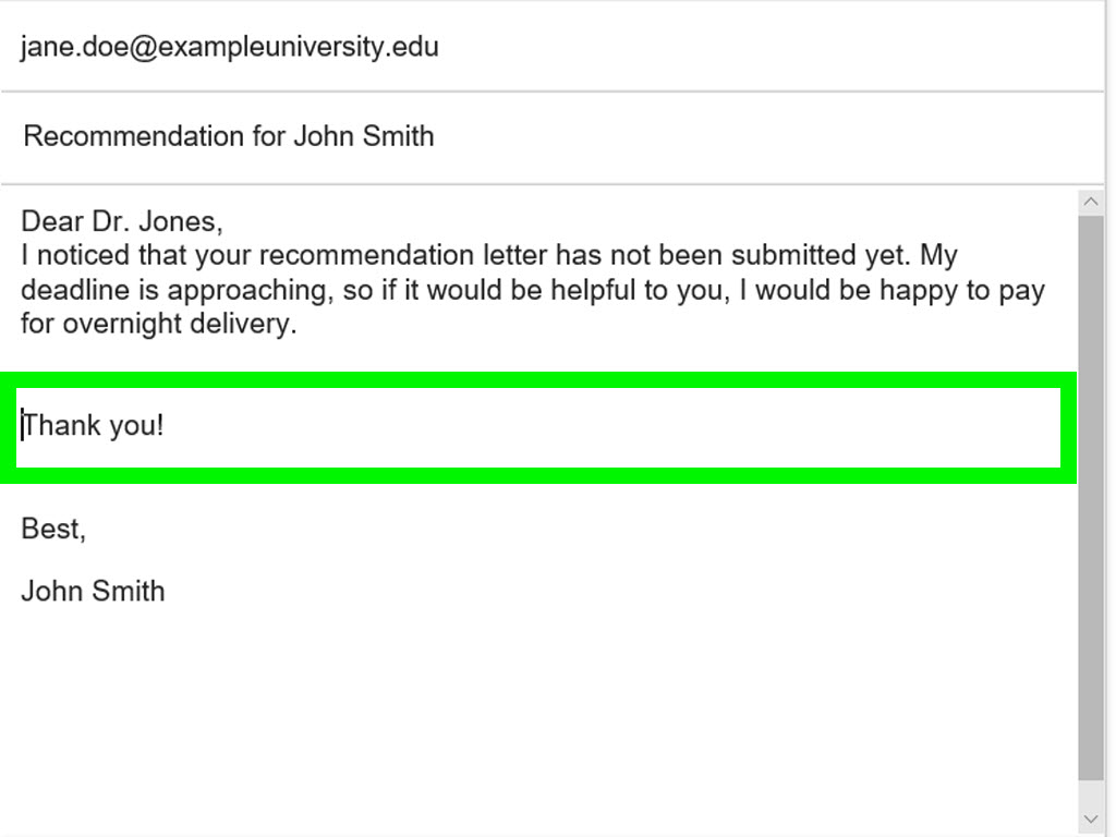 how to ask professor for job reference