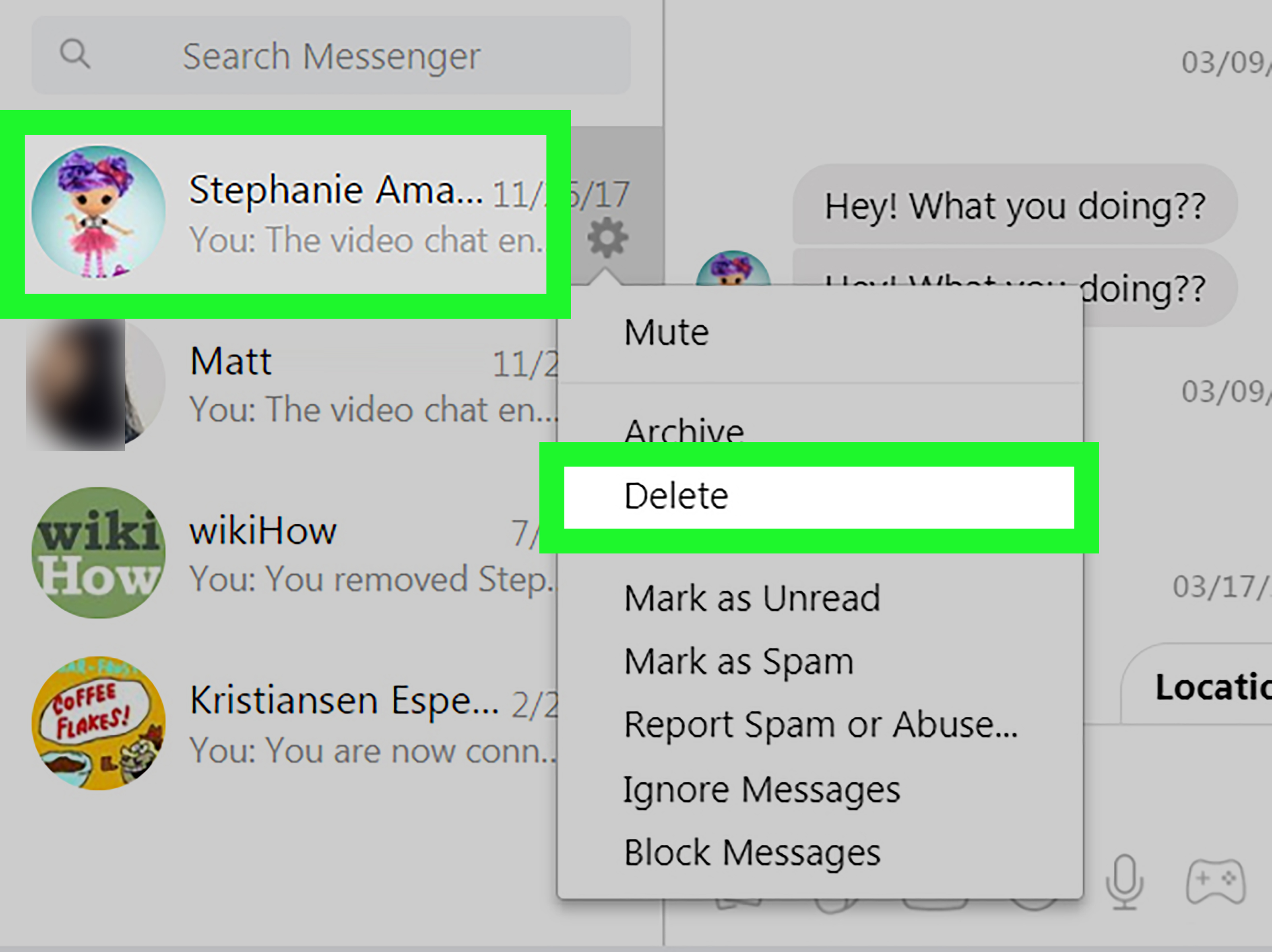 2 Simple Ways To Delete Messages On Facebook Messenger