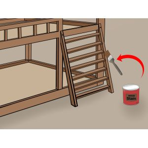 Marvelous Saddlebrook Staircase Twin Over Twin Pine Bunkbed