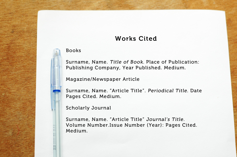 sources mla format