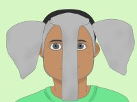 How to Make Elephant Ears for a Costume (with Pictures ...