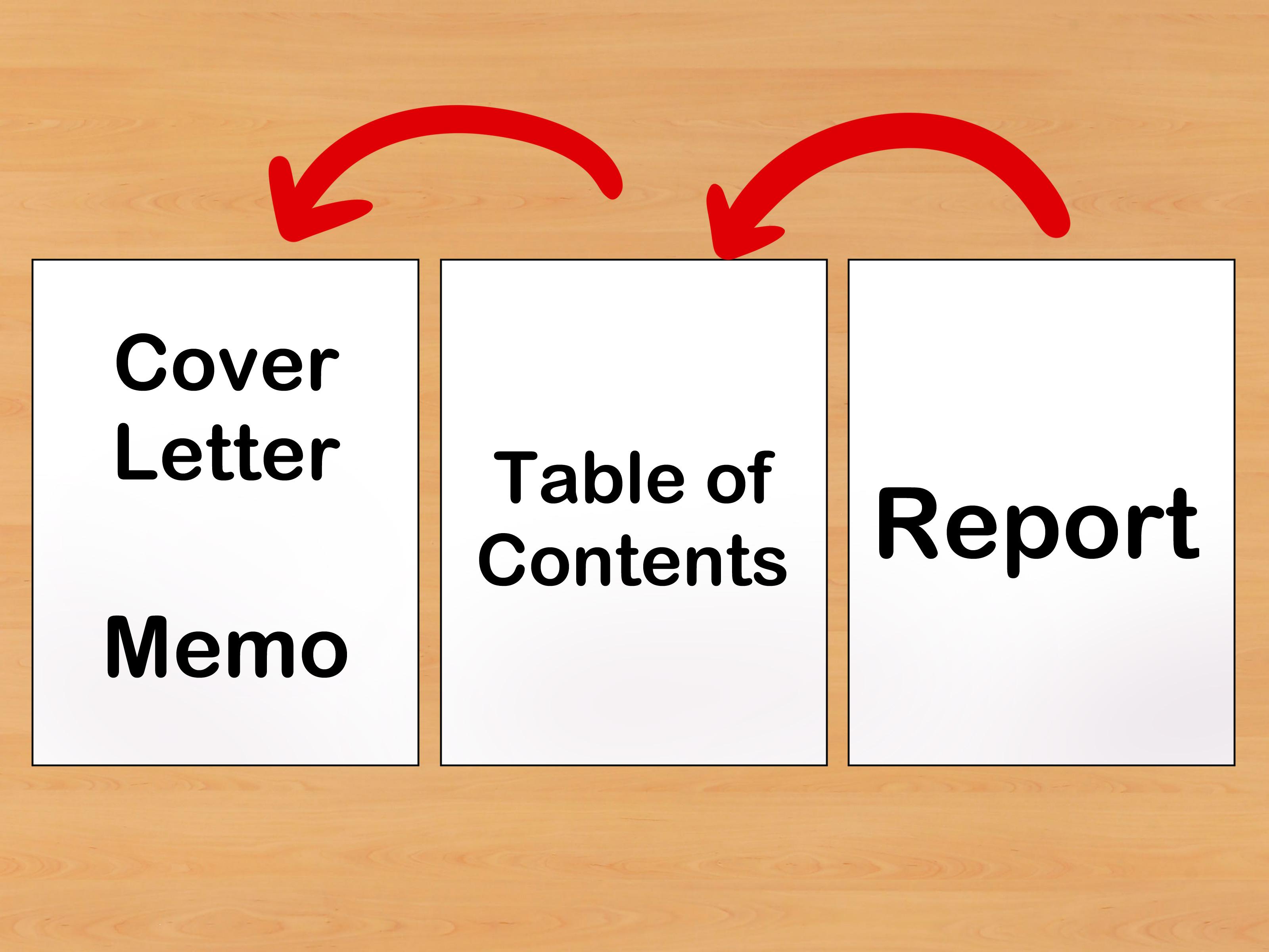how to write a memorandum report